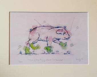 This Little Piggy Went To Market print