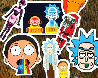 RICK AND MORTY - Party Stickers - set of 35