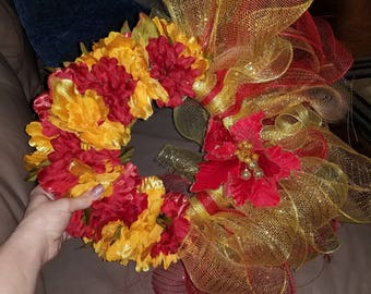 Red and gold wreath