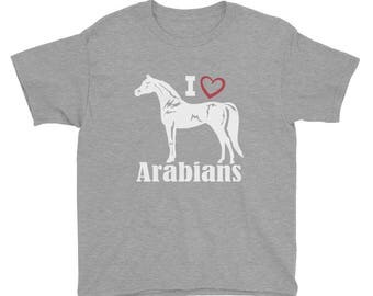 I Love Arabians Youth Short Sleeve T-Shirt