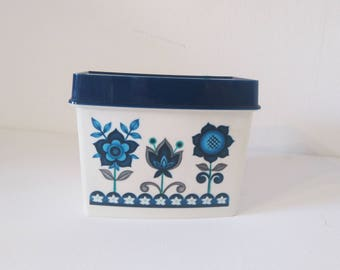 Vintage Plastic Box, Vintage Container for Kitchen