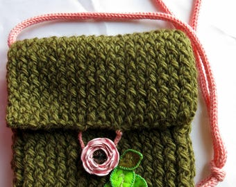 Romantic pouch wool