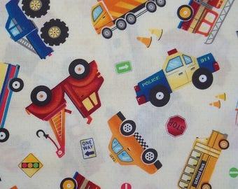 Tissu voiture et camion pour enfant