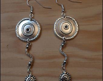 Tibetan silver dangle ethnic 7 cm