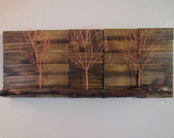 Copper Art, Copper Wall Art, Tree Art, Tree Wall Art, Rustic Wall