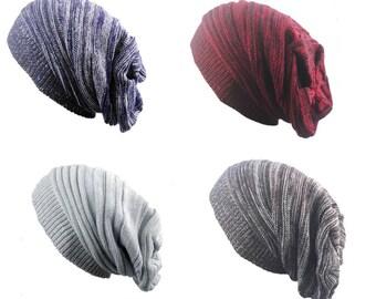 Men's Satin Lined Winter Hat - Cap Beanie - X - Large - Baggy