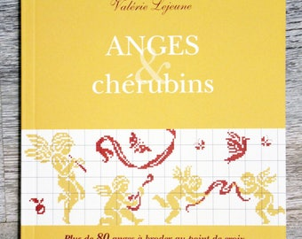 Book angels and cherubs with cross stitch