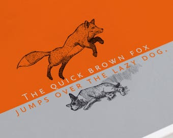 The quick brown fox jumps over the lazy dog. Postcard