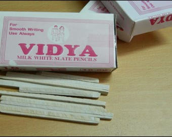Slate Pencil, India Slate Pencil 200 gr. Brand Vidya. Delivery in the US 3 days!
