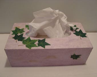 Purple with leaves tissue box