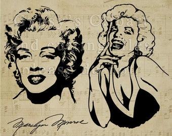 Marilyn Monroe svg, Marilyn Monroe Silhouette, Marilyn Monroe Cricut Design, Marilyn Monroe T Shirt, David Bowie Vinyl Decal,