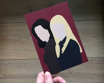 JJ & Emily - Criminal Minds - Postcard