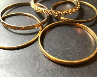 Vintage Bangle Bracelets Lot of 5