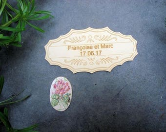 Tag with your custom engraving 214 wooden embellishment