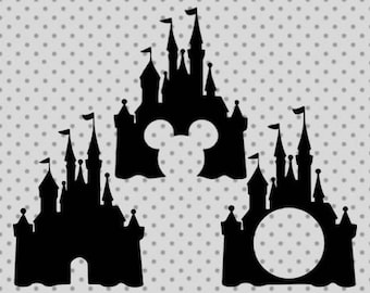 Disney castle SVG, Disney Monogram castle, Princess castle Svg, dxf, png, eps, disney castle cricut and silhouette cameo, castle svg, disney