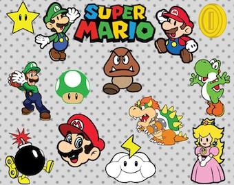 Super Mario SVG, Super Mario  cricut and silhouette cameo, Nintendo svg, Super Mario silhouette svg, princess svg