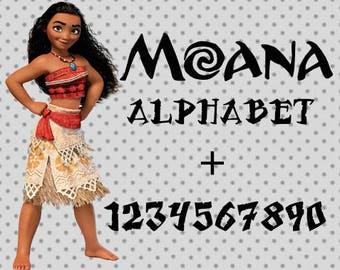 Moana svg Font, Moana Alphabet, Moana SVG Alphabet, Svg Font, Moana Svg, Moana svg, Moana cricut, Moana Silhouette Studio