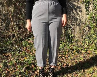 Vintage 90s Black & White Gingham Pants Size L