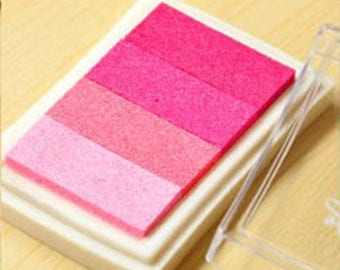 x 1 box pink gradient ink stamp ink 7.5 x 5 cm