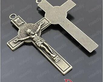 5 bronze 72 * 40MM D27634 cross charm