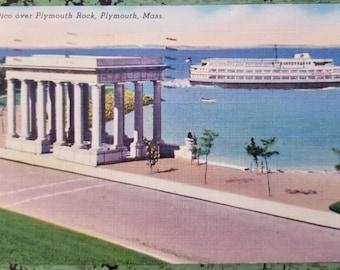 Vintage Postcard - 1954 - Plymouth Rock