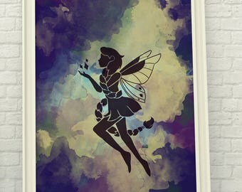 Fairy Watercolor Digital Art