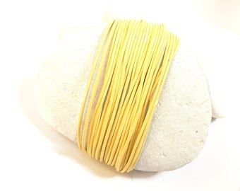leather cord 1 mm yellow straw 3 meters
