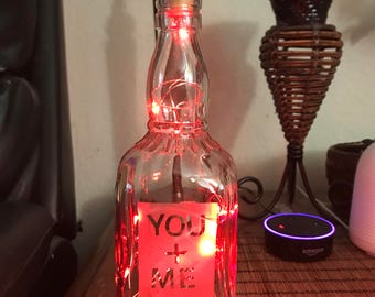 You + Me Bottle Lamp