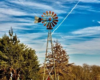 Windmill on the farm - Fine Art Print
