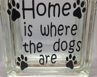Dog Treat Jar , Home is Where the Dogs are , Biscuit jar , dog bone jar ,