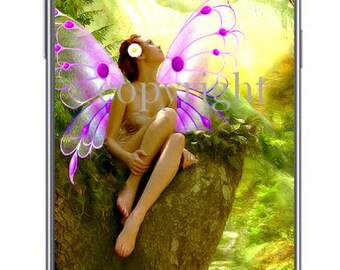 La femme papillon fond d'écran pour ipod ou ordinateur création unique sur le thème féerique.