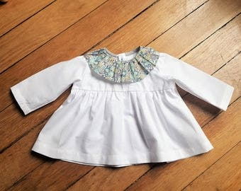 White collared pierrot liberty blouse