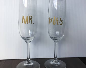 Mr. and Mrs. Decals, Bride Decal, Groom Decal, Wedding Party Decals