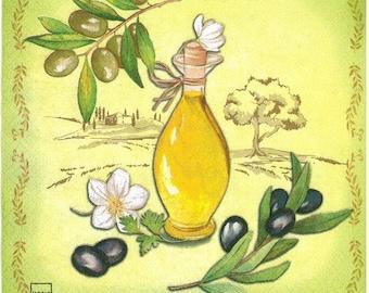 paper towel 215 - olive oil