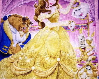 Beauty and the Beast Hand Quilted Lap Quilt