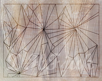 Abstract art piece GLIMPSE THROUGH TRIANGLES