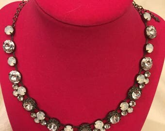 Multi-size Swarovski necklace and warring set