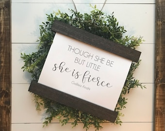 SHE IS FIERCE | farmhouse hanging sign | canvas sign | nursery sign |