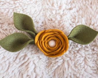 Mustard Yellow Floral Headband