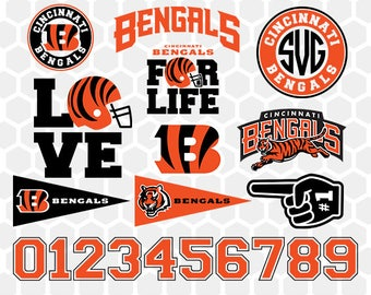 Cincinnati Bengals SVG, Cincinnati Bengals Files, Instant Download Football Files, Cricut, Cameo, Vinyl Machine, DXF EPS png jpg pdf - 012