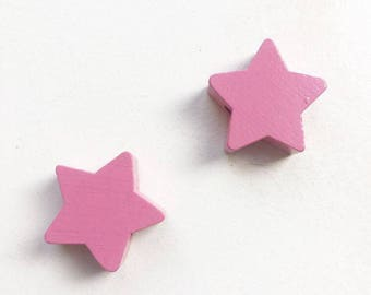 Wood star bead
