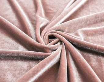 Grace OLD ROSE Stretch Velvet Fabric by the Yard, Half Yard, Bolt and Wholesale - SKU 5000