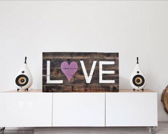 Love sign, Pallet sign,Shabby Chic home decor, farmhouse wall decor,rustic decor,rustic love sign