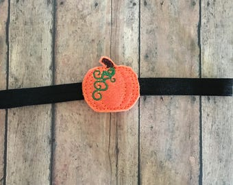 Halloween Baby Headband, Halloween Headband, Headband, Halloween, Pumpkin Headband, Baby Pumpkin Headband newborn headband infant headband