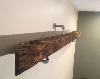 Barnwood Beam Mantle / Shelf