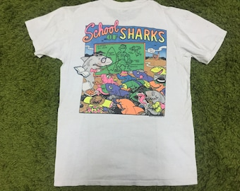 RARE Vintage T&C Town Country Surf Character Hawaii Punk Rock Skate shirt 80s