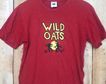 "RARE!!! KEITH HARING  Shirt Vintage 90's Keith Haring ""Wild Oats"" The Estate Of Keith Haring Tee T Shirt Size S"