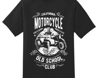 California old school club motorcycle sidecar Tee Shirt 112915