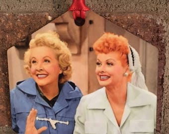 I Love Lucy & Ethel Lucille Ball Christmas Ornament Decoration