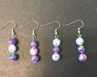 Paint Splatter Earring 2 Piece